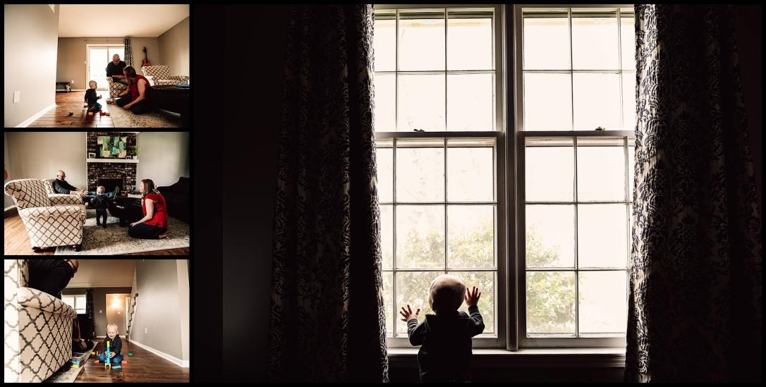 Kansas City Family Documentary Lifestyle Photography Baby Blocks Window