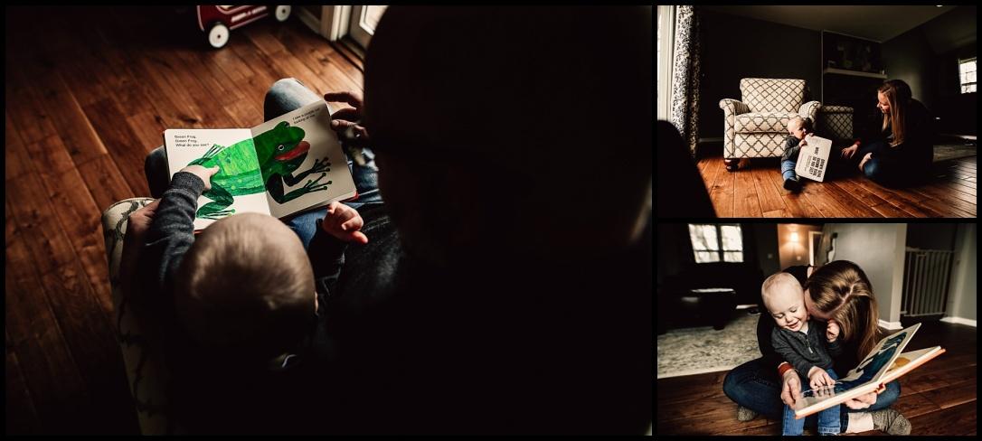 Kansas City Family Documentary Lifestyle Photography Baby Mommy Reading