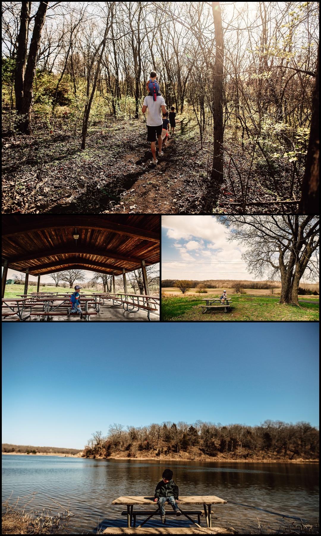 Kansas City Family Child Adventure Summer Photography Hiking Park