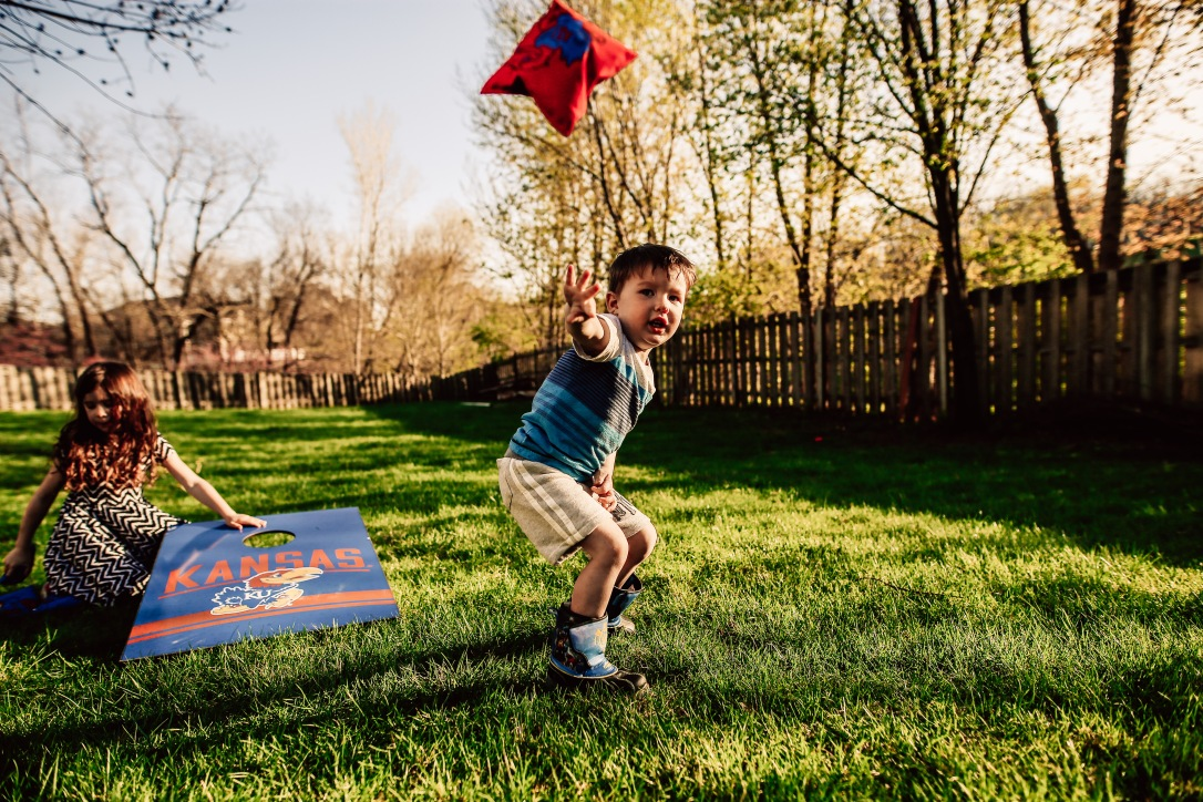 Kansas City Family Child Backyard Summer Photography