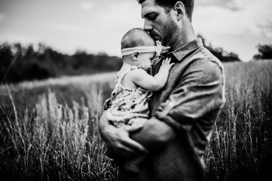 Family Photography Kansas City Lawrence field baby milestone session toddler daddy