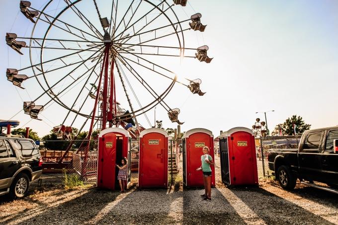 County Fair Girl Ferris Wheel Photography Courtney MaCaire Johnson County Kansas Port-a-potty bathroom