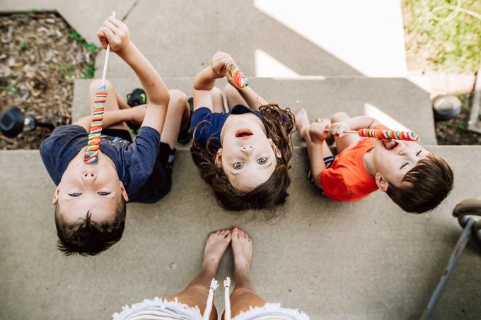 Kids front porch suckers summertime