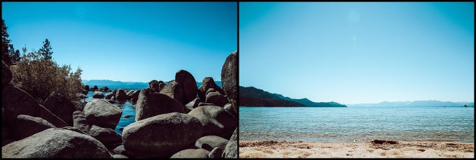 Lake Tahoe Sand Harbor outcrop rocks beach
