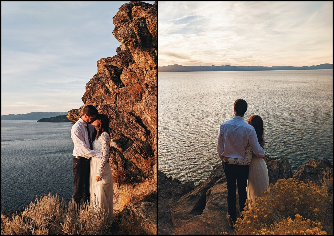 Vow Renewel Cave Rock Lake Tahoe Nevada
