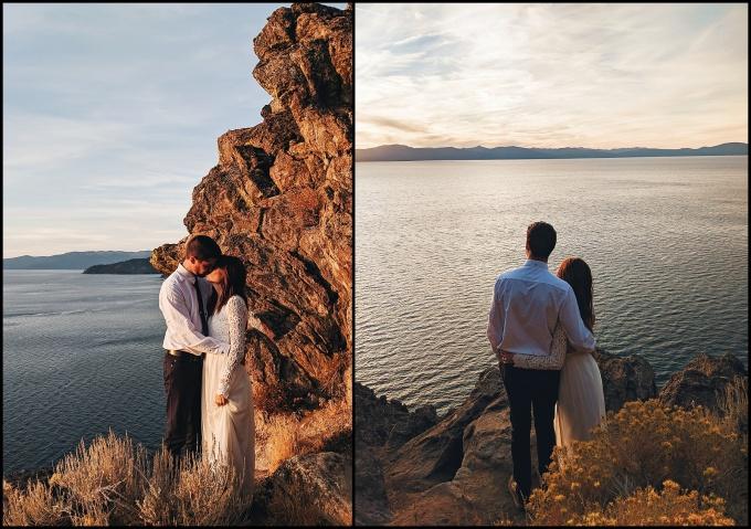 Vow Renewel Cave Rock Lake Tahoe Nevada
