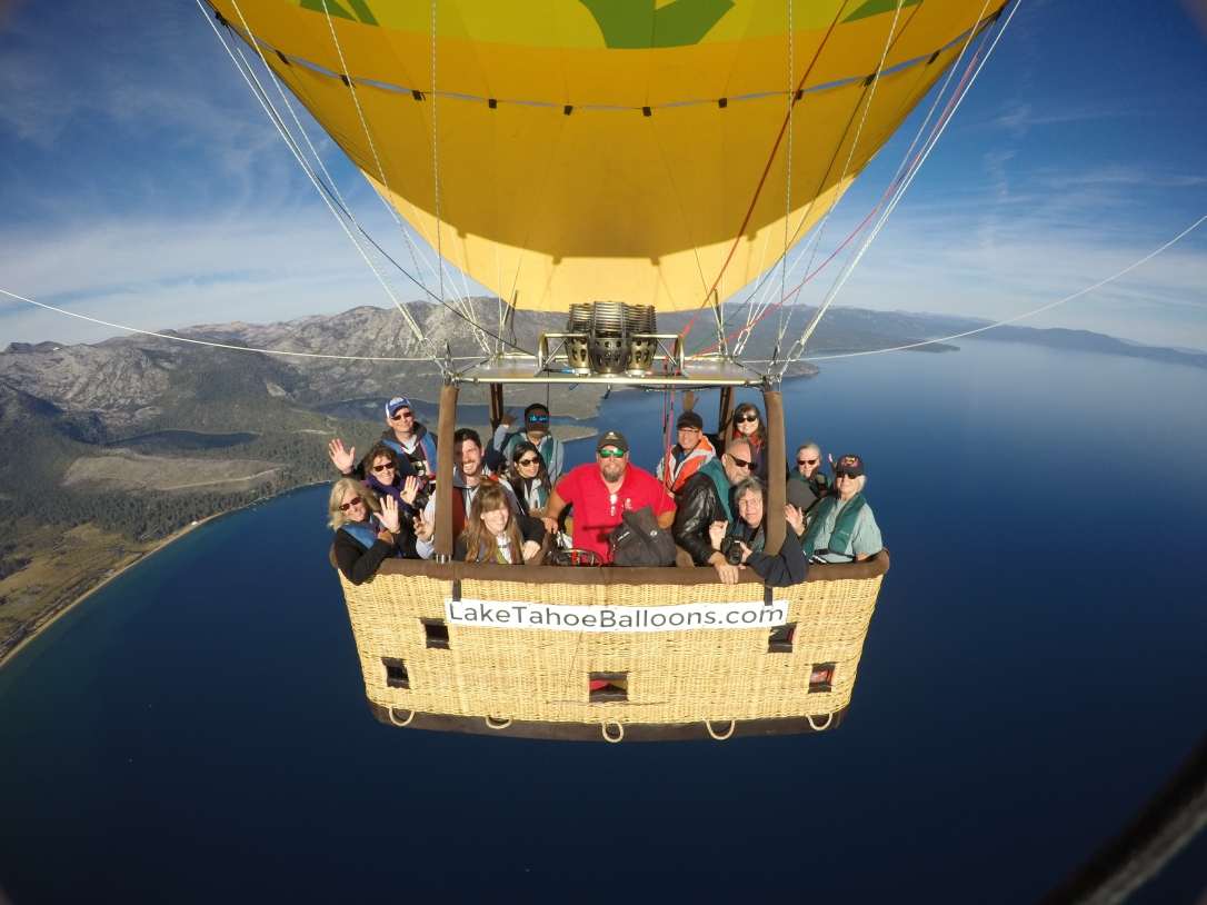 Lake Tahoe Balloon Hot Air Balloon Boat
