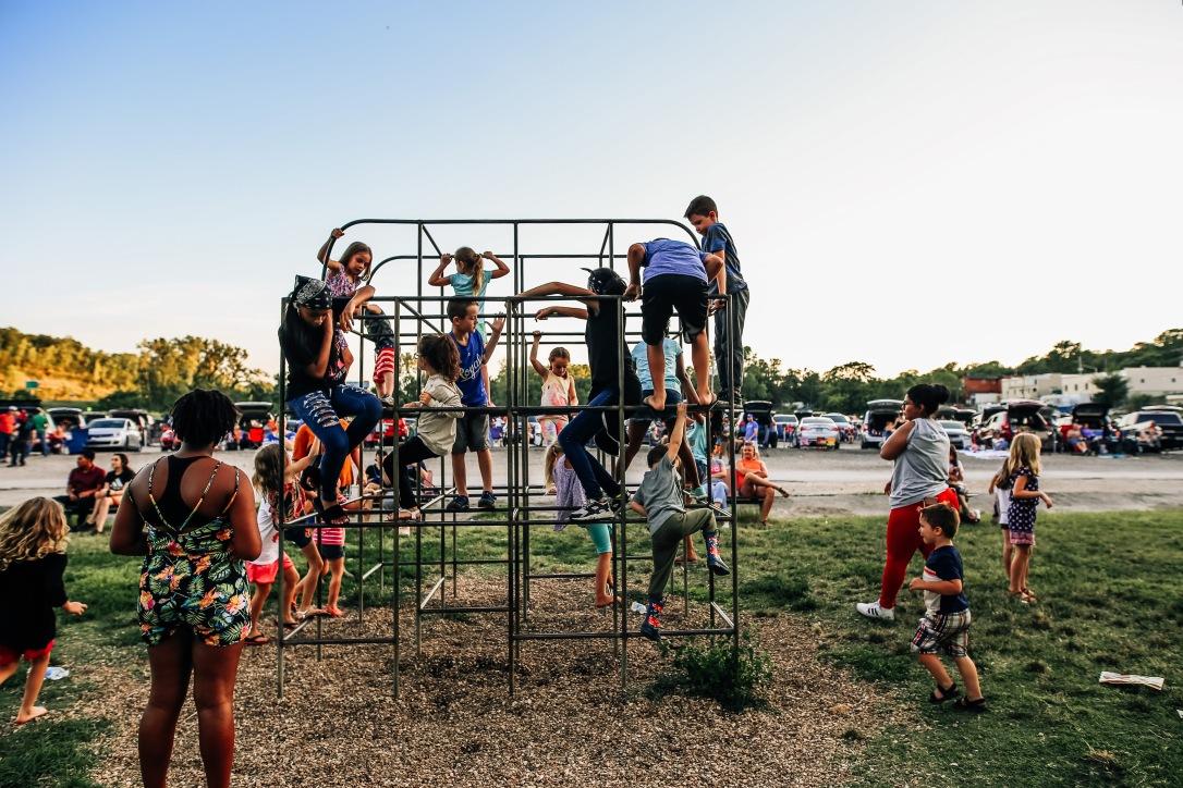 Kansas City Boulevard Drive In movie vintage playground children summer joy