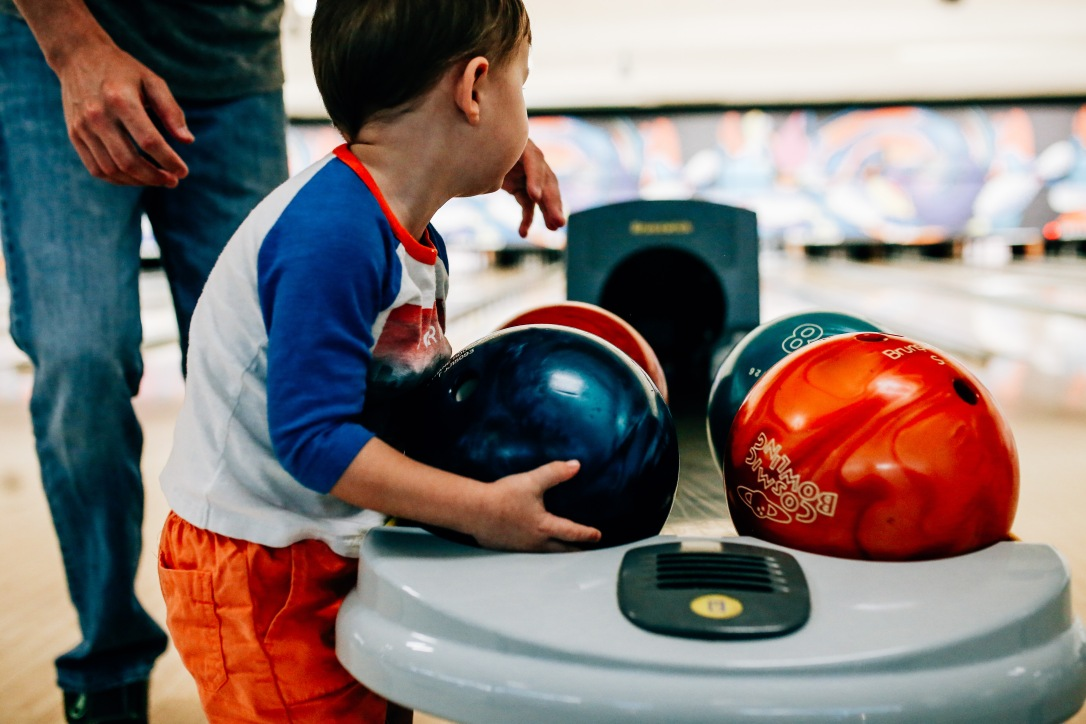 toddler bowling ball lane alley birthday