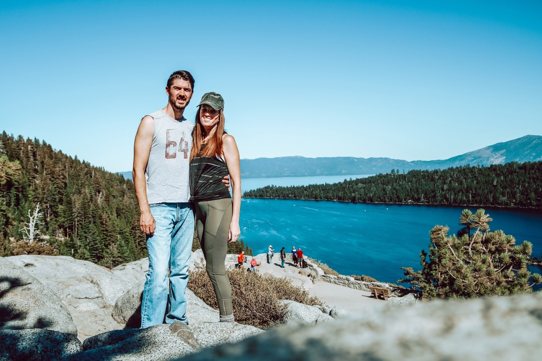 Emerald Bay Lake Tahoe California Couple Hiking