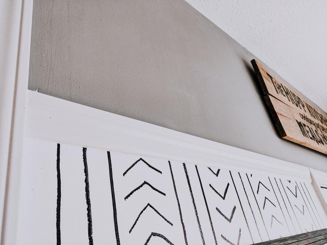 family command center calendar chore charts DIY Sharpie wall design modern kitchen